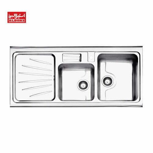 سینک ظرفشویی روکار استیل البرز مدل 814.60