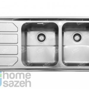 سینک ظرفشویی استیل البرز توکار مدل 763
