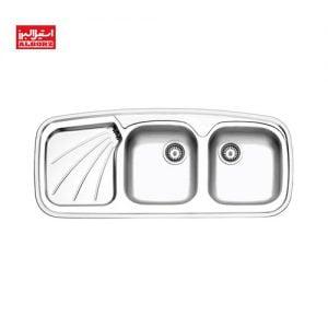 سینک ظرفشویی استیل البرز کد 270 ابعاد 50*116