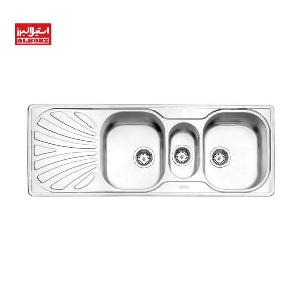 سینک ظرفشویی استیل البرز کد 530 ابعاد 50*132