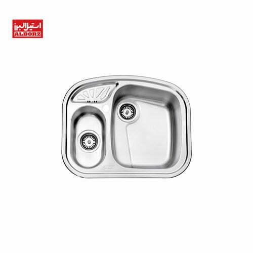 سینک ظرفشویی 605 توکار استیل البرز
