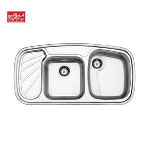 سینک ظرفشویی استیل البرز کد 611 ابعاد 51*100 توکار