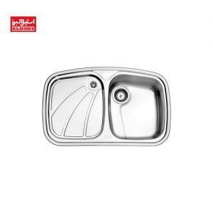 سینک ظرفشویی استیل البرز کد 618 ابعاد 50*80 استیل