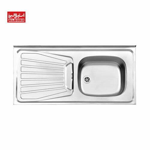 سینک ظرفشویی استیل البرز مدل 165.50 ابعاد 50*100