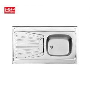 سینک ظرفشویی روکار اخوان مدل 165.60 ابعاد 60*100