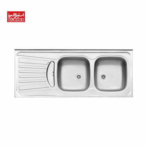 سینک ظرفشویی استیل البرز کد 260.50 ابعاد 50*120 روکار