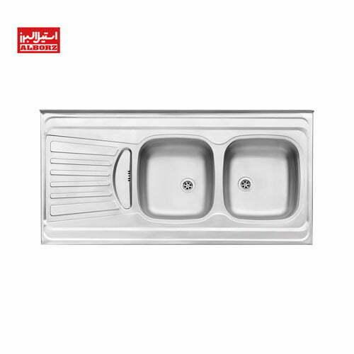 سینک ظرفشویی استیل البرز کد 260.60 روکار ابعاد 60*120