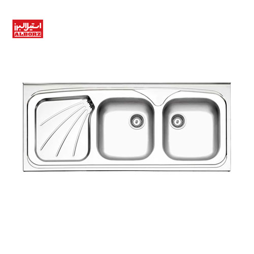 سینک ظرفشویی استیل البرز کد 270.50 ابعاد 50*120 روکار