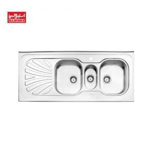 سینک ظرفشویی استیل البرز کد 530.60 ابعاد 60*140 روکار