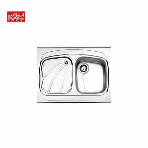 سینک ظرفشویی استیل البرز مدل 618 ابعاد 60*80