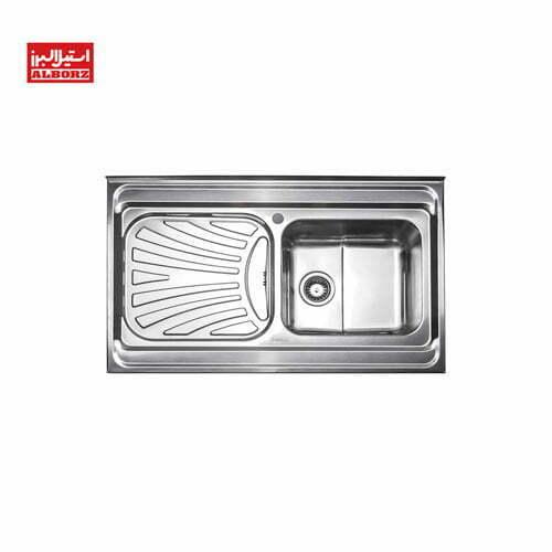 سینک ظرفشویی استیل البرز 711.60 ابعاد 60*100