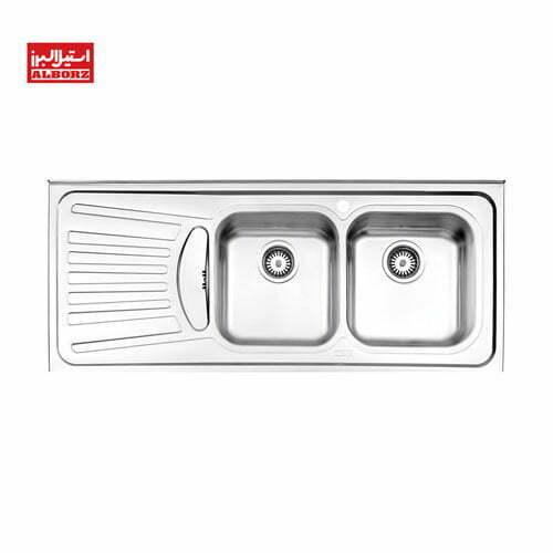 سینک ظرفشویی روکار استیل البرز 725.50 ابعاد 50*120