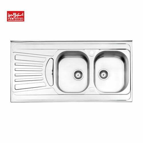 سینک ظرفشویی استیل البرز کد 725.60 ابعاد 60*120