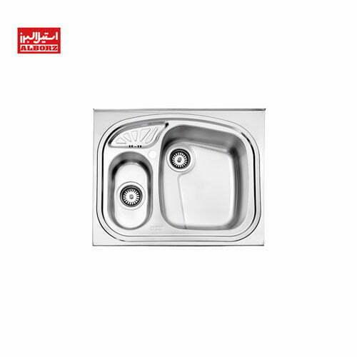 سینک ظرفشویی استیل البرز کد 605.60 ابعاد 60*65.6 روکار