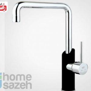 شیر آلات بهداشتی راسان مدل سینک ثابت اهرمی شیلدر مشکی