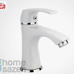 شیر آلات بهداشتی راسان لوتوس سفید - روشویی  مدل روشویی ثابت اهرمی لوتوس سفید