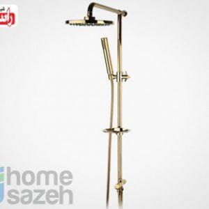 شیر آلات بهداشتی راسان یونیورست - تینا طلایی مدل یونیورست اهرمی تینا طلایی