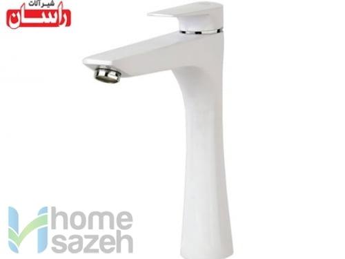 شیر آلات بهداشتی راسان آتیس سفید - روشویی مدل روشویی بلند آتیس سفید