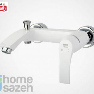 شیر آلات بهداشتی راسان لوتوس سفید - دوش مدل دوش اهرمی لوتوس سفید