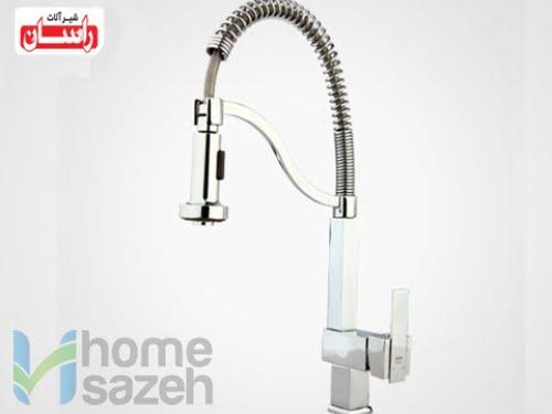 شیر آلات بهداشتی راسان باران - سینک  مدل سینک باران فلت اهرمی