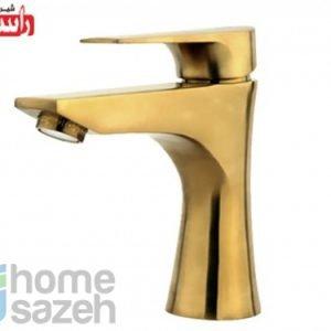 شیر آلات بهداشتی راسان آتیس طلایی مات - روشویی مدل روشویی معمولی آتیس طلایی مات