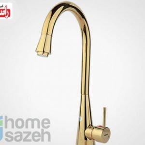 شیر آلات بهداشتی راسان سارینا - سینک  مدل سینک سارینا اهرمی طلایی