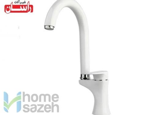 شیر آلات بهداشتی راسان آتیس سفید - سینک مدل سینک آتیس سفید