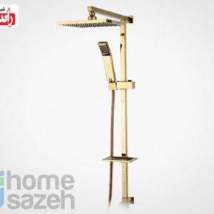 شیر آلات بهداشتی راسان یونیورست - آرام طلایی مدل یونیورست اهرمی آرام طلایی