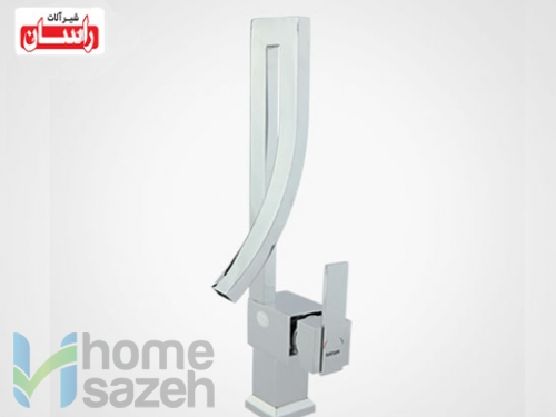 شیر آلات بهداشتی راسان کهربا - روشویی  مدل روشویی بلند اهرمی کهربا