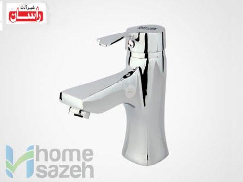 شیر آلات بهداشتی راسان پاپیون - روشویی  مدل روشویی ثابت اهرمی پاپیون